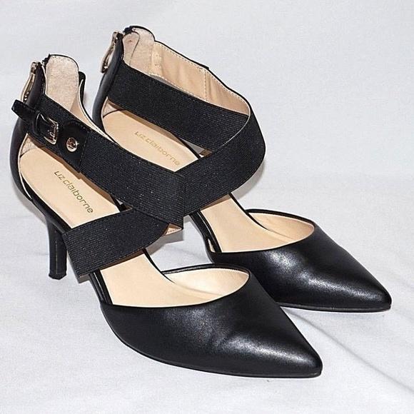 0569410192b Liz Claiborne Shoes - Liz Claiborne Womens Keegan 7 W Black Pumps